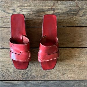 Robert Clergerie Rust Red Platform Sandals
